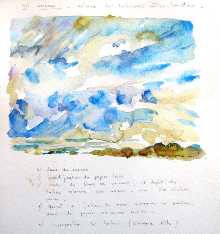 aquarelle-ciel-nuageux