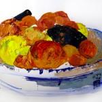 gouache-fruits