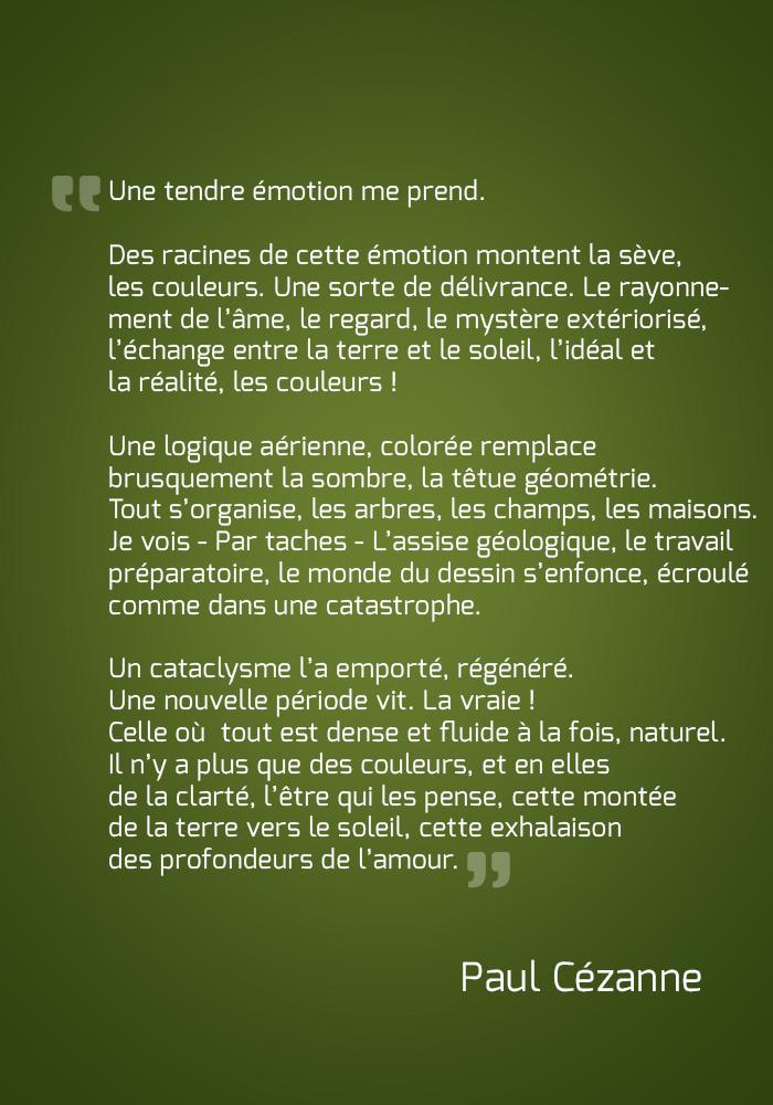 Paul Cézanne Citation Découvert En Pascale Gatineau